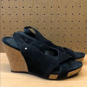 Gorgeous Ugg Suede Cork Wedge